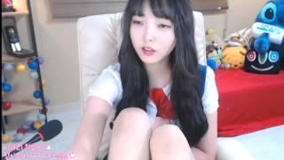 韓國BJ美女主播學生妹說話時撐爆上衣了!