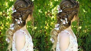 Beautiful Princess / Fairy  Curl Hairstyle | Pretty Hairstyles | Braidsandstyles12