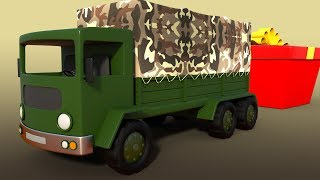 Army Truck   Unboxing Toys   Surprise Box For Children   Truck Videos And Cartoon Shows For Babies