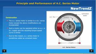 principle and operation of AC series motor with heavy animation
