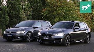 Volkswagen Golf R vs BMW M140i 2018 comparison review