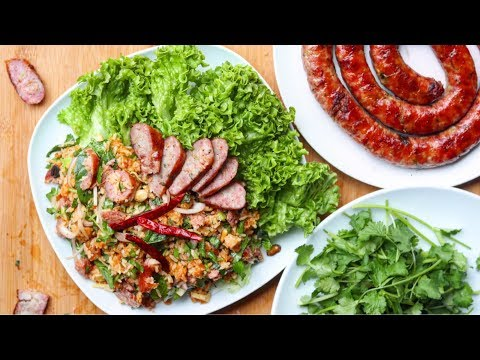 Xxx Mp4 Nam Khao With Hmong Sausage Crispy Rice Salad 3gp Sex
