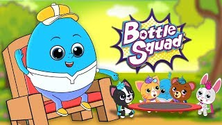 Humpty Dumpty | Bottle Squad | Song For Babies | Kindergarten Nursery Rhymes For Toddlers