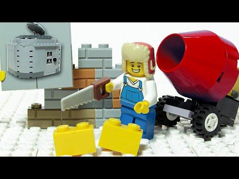 Lego Brick Building Bunker Inspirational DIY Satisfaction Animation