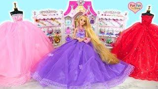 Barbie Rapunzel Cinderella Elsa Snow White doll Dress up Gaun boneka Barbie Vestido de boneca