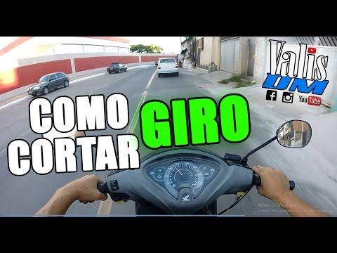 APRENDA A CORTAR GIRO TIRAR DE GIRO COM A BIZ
