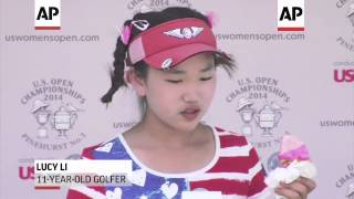 Lucy Li made two double bogeys, a triple bogey and finished her historic round at the U.S. Women's O