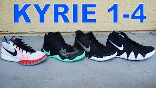 Nike Kyrie 1 - 4 Detailed Look & Comparison! What's the Best?!