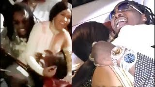 """Cardi B buys her fiance Offset a Rolls Royce Wraith. Offset cries """"I love you Cardi!"""""""