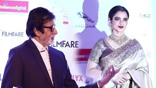 Full Video - Rekha IGNORED Amitabh Bachchan At Filmfare Style Awards 2016