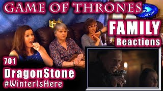 Game of Thrones | FAMILY Reactions | Season 7 | Premiere | DRAGONSTONE | 701 | 1