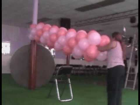 decoracion con globos arco de entrada