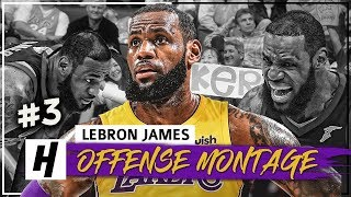 LeBron James EPIC Full Offense Highlights 2017-2018 Season (Part 3) - CRAZY Dunks, Clutch Shots!