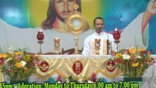 Adoration by Fr.Anil Kiran Fernades SVD at DCC Mulki on 08-06-2017