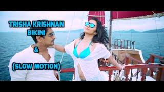 Trisha hot bikini scene in Aranmanai 2 - Trisha hot boobs and navel show