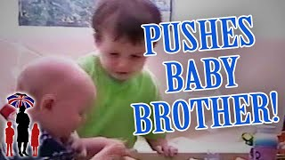 Supernanny | Jealous Boy Pushes Baby Brother Over!