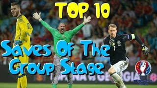 Top 10 Saves Of The Group Stage - Euro 2016