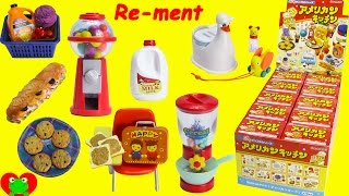 RARE Happy American Kitchen Re-ment Set