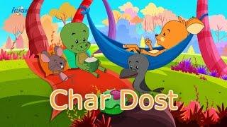 Char Dost - Panchtantra Ki Kahaniya | Moral Stories For Kids | Story In Hindi | Cartoon Story