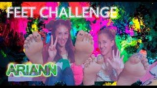 FEET CHALLENGE con mi amiga Andrea- ARIANN Y ANDREA - Best Friends