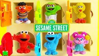 Sesame Street Learn Colors Help Bert Find Elmo, Cookie Monster, Ernie and Surprises