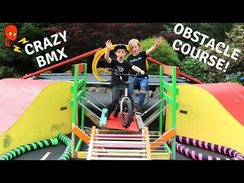 Crazy BMX Obstacle Course