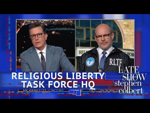 Xxx Mp4 Colbert Meets A Religious Liberty Task Force Special Agent 3gp Sex