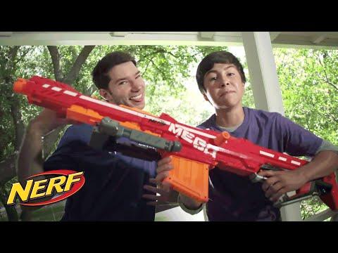 NERF Stunts - 'NERF N-Strike Elite Mega Centurion Blaster ft. Dude Perfect'