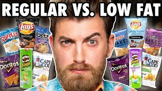 Low Fat vs. Regular Chips Taste Test