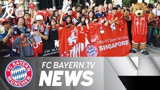 FC Bayern arrives in Singapore