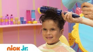 How to Make a Pompadour Hairstyle 🕶️ Style Files Hair Tutorial | Sunny Day | Nick Jr.