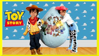 GIANT EGG SURPRISE OPENING Disney Toy Story Toys Kids Video Super Giant Surprise Egg Biggest Egg