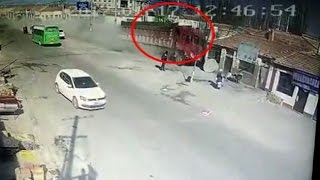 On Cam: Speeding truck rams into houses in China
