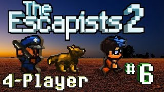 The Escapists 2: 4-Player - #6 - The Great Escape! (4-Player Gameplay)