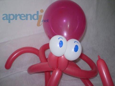 Esculturas de Balões Polvo Balloon Sculpture Octopus