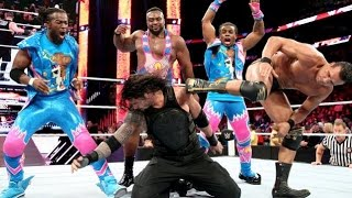 Roman Reigns Vs all superstars OneVsAll on WWE Raw on 11 01 21016