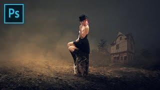 Photo Manipulation Photoshop - I Live Alone | Photoshop Workflow Tutorial