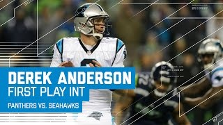 Panthers Start Derek Anderson Who Throws an INT on 1st Pass | Panthers vs. Seahawks | NFL