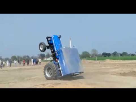 Sonalika tractor stunt
