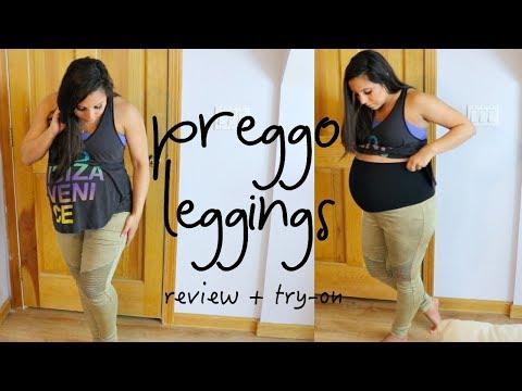 PREGGO LEGGINGS REVIEW + TRY ON | 9 MONTHS PREGNANT