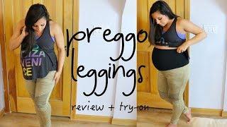 PREGGO LEGGINGS REVIEW + TRY ON   9 MONTHS PREGNANT