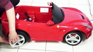 Kids Ferrari F12 Berlinetta Remote Control Ride On Toy Car Unboxing DIY