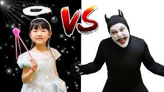 変身ごっこ天使VS悪魔なりきりドレス屋さん2017ハロウィン仮装 | Hane&Mari