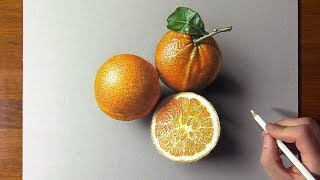 Drawing VS Reality Amazing Oranges & Satisfying 3D Art