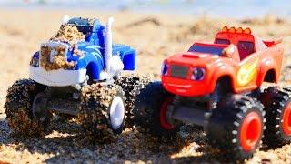 Juguetes de Blaze y los Monster Machines. Camiones Monstruos. Coches para niños