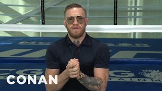 Conor McGregor's Strategy For Defeating Floyd Mayweather  - CONAN on TBS