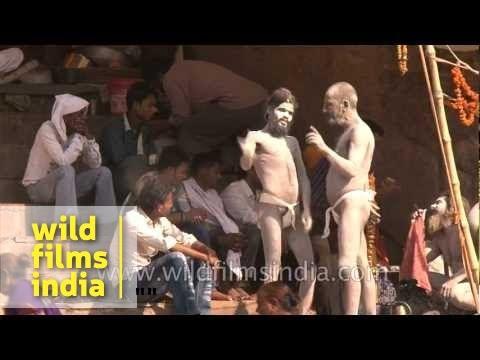 Naked Naga Sadhus in Varanasi