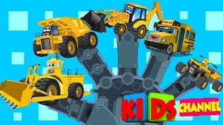 Vehicle finger family| Yellow transport for kids | animated nursery rhymes for children