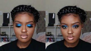 Blue Smokey Eye Holiday Makeup Tutorial   Shanny Stephens