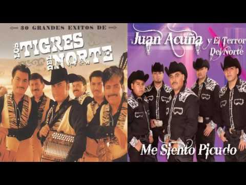 CORRIDOS MIX Tigres Del Norte VS Juan acuña